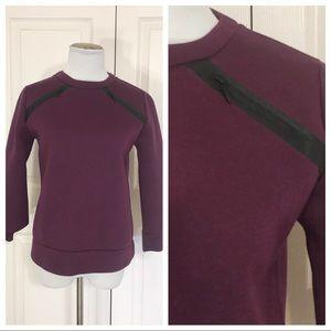 Kate Spade Saturday scuba sweatshirt with zippers